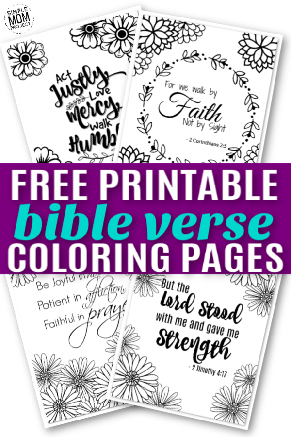- Free Printable Bible Verse Coloring Sheets - Simple Mom Project