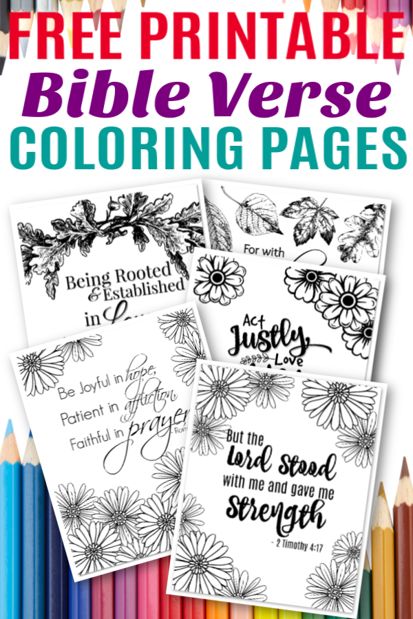 Free Printable Bible Verse Coloring Sheets - Simple Mom Project