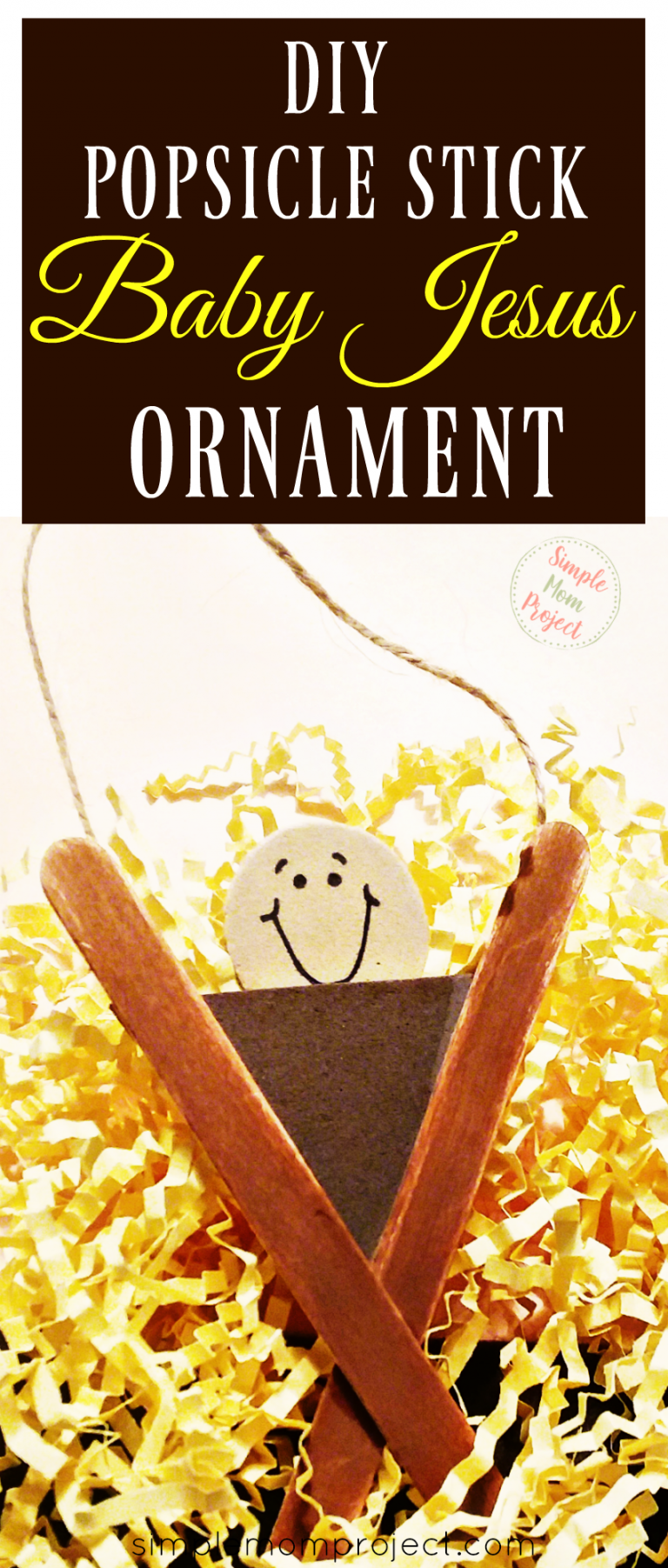For an easy Christmas craft for kids, find out how to make your very own Popsicle stick Baby Jesus ornament. It is a wonderful holiday activity to share in Sunday school or a great gift idea.