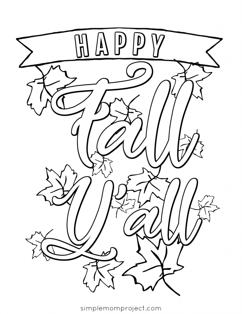 Free Printable Fall Coloring Pages Simple Mom Project