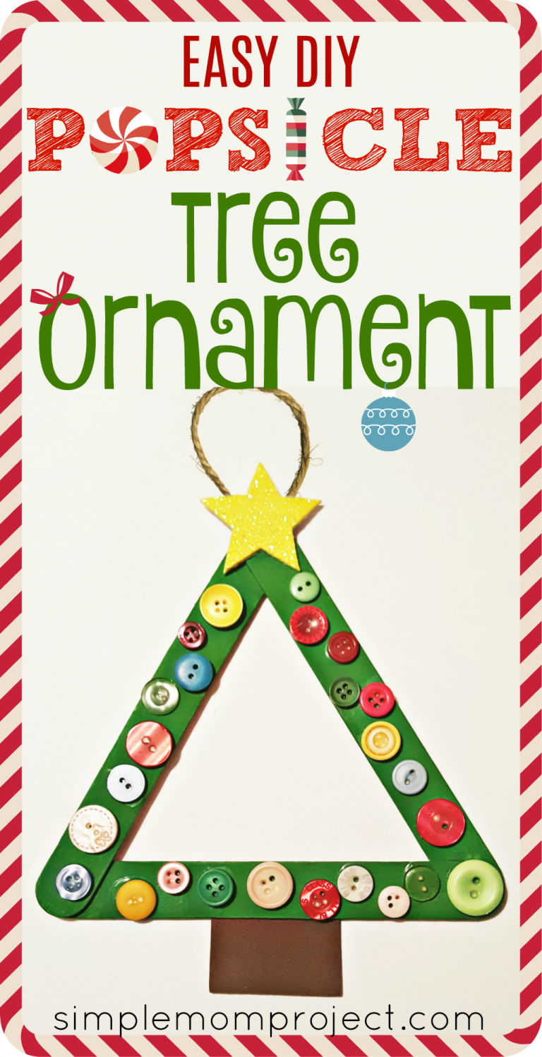 Have fun with this easy homemade Christmas Tree Popsicle Stick Ornament! Share in the classroom, at home, or to go along with your Sunday school lesson. These awesome Popsicle Stick Ornaments are easy enough for any kid to make for a gift ideas or to be hung on the Christmas tree!