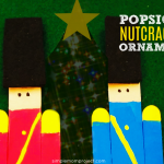 Have fun with these easy homemade Stable Popsicle Stick Christmas Ornaments! Share in the classroom, at home, or to go along with your Sunday school lesson. These awesome Popsicle Stick Ornaments are easy enough for any kid to make for a gift ideas or to be hung on the Christmas tree! #nutcrackerornament #ornament #diyornament