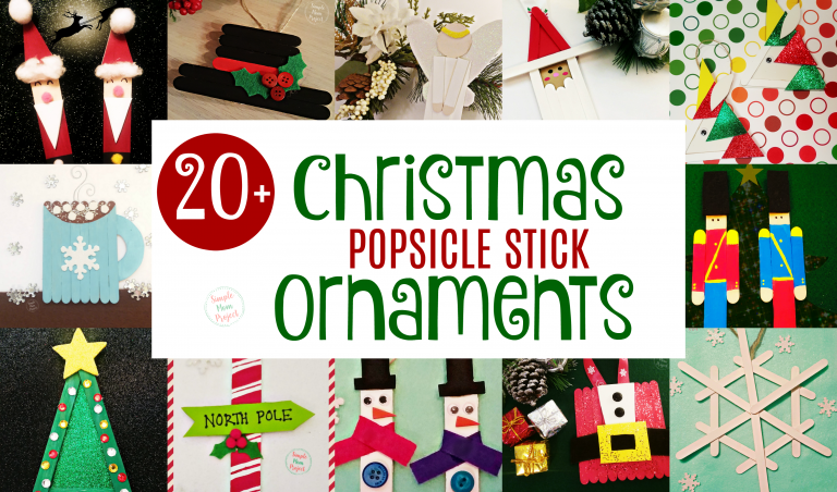Have fun with these easy homemade Popsicle Stick Christmas Ornaments! Share in the classroom, at home, or to go along with your Sunday school lesson. These awesome Popsicle Stick Ornaments are easy enough for any kid to make for a gift ideas or to be hung on the Christmas tree!