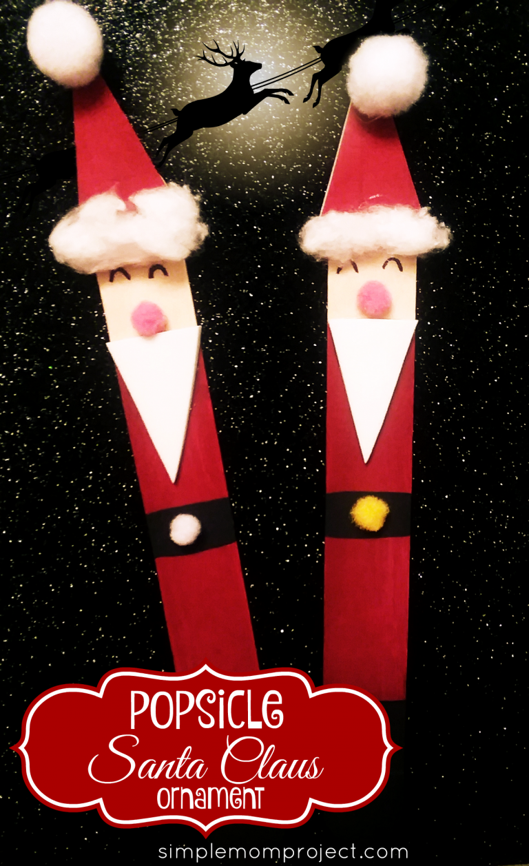 Have fun with these easy homemade Stable Popsicle Stick Christmas Ornaments! Share in the classroom, at home, or to go along with your Sunday school lesson. These awesome Popsicle Stick Ornaments are easy enough for any kid to make for a gift ideas or to be hung on the Christmas tree! #SantaOrnament#Christmas #diyornament