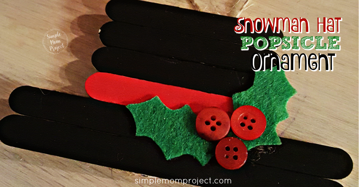 EASY AND CUTE SNOWMAN HAT POPSICLE ORNAMENT