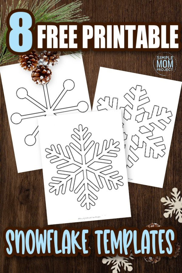 Click to download these easy and free printable paper snowflake patterns, snowflake templates and snowflake outlines! These snowflake templates are perfect for a Frozen party, simple snowflake coloring page or decorate the snowflake classroom activity. #snowflake #snowflaketemplate #coloringpage #winter #winteractivity #SimpleMomProject