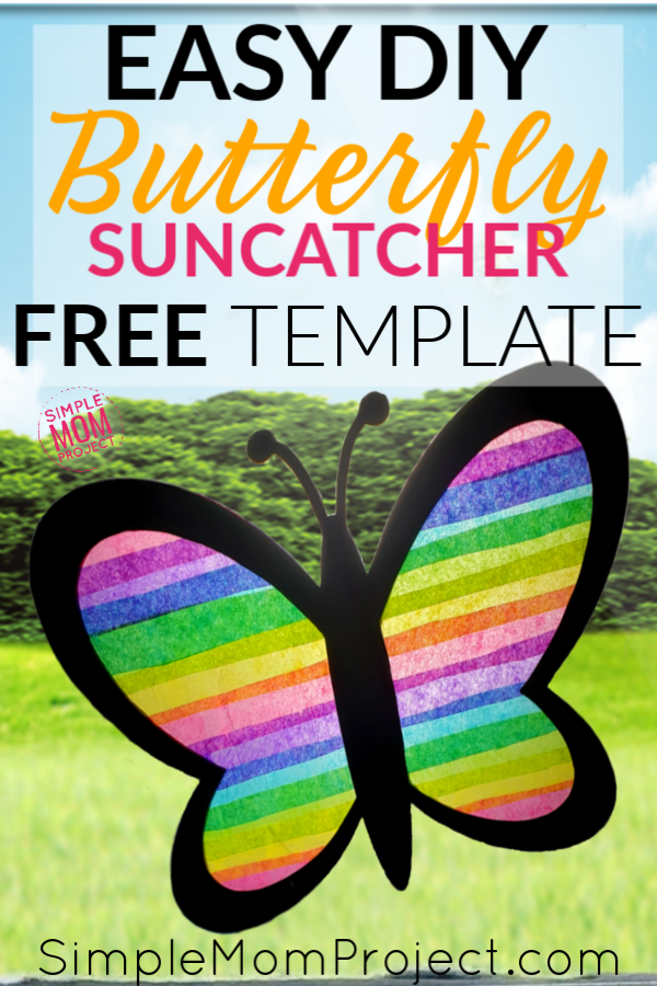 Butterfly Suncatcher Pin for Pinterest