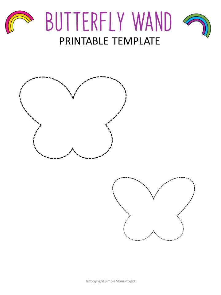 image relating to Printable Butterfly Template named Absolutely free Printable Butterfly Templates - Straightforward Mother Undertaking