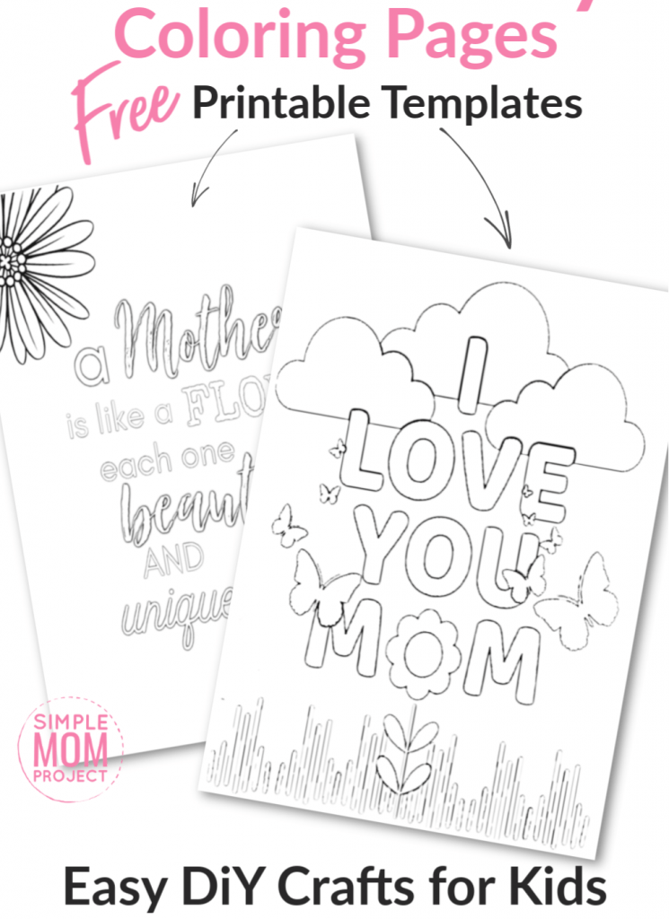 FREE Printable Coloring Pages For Mom - Simple Mom Project