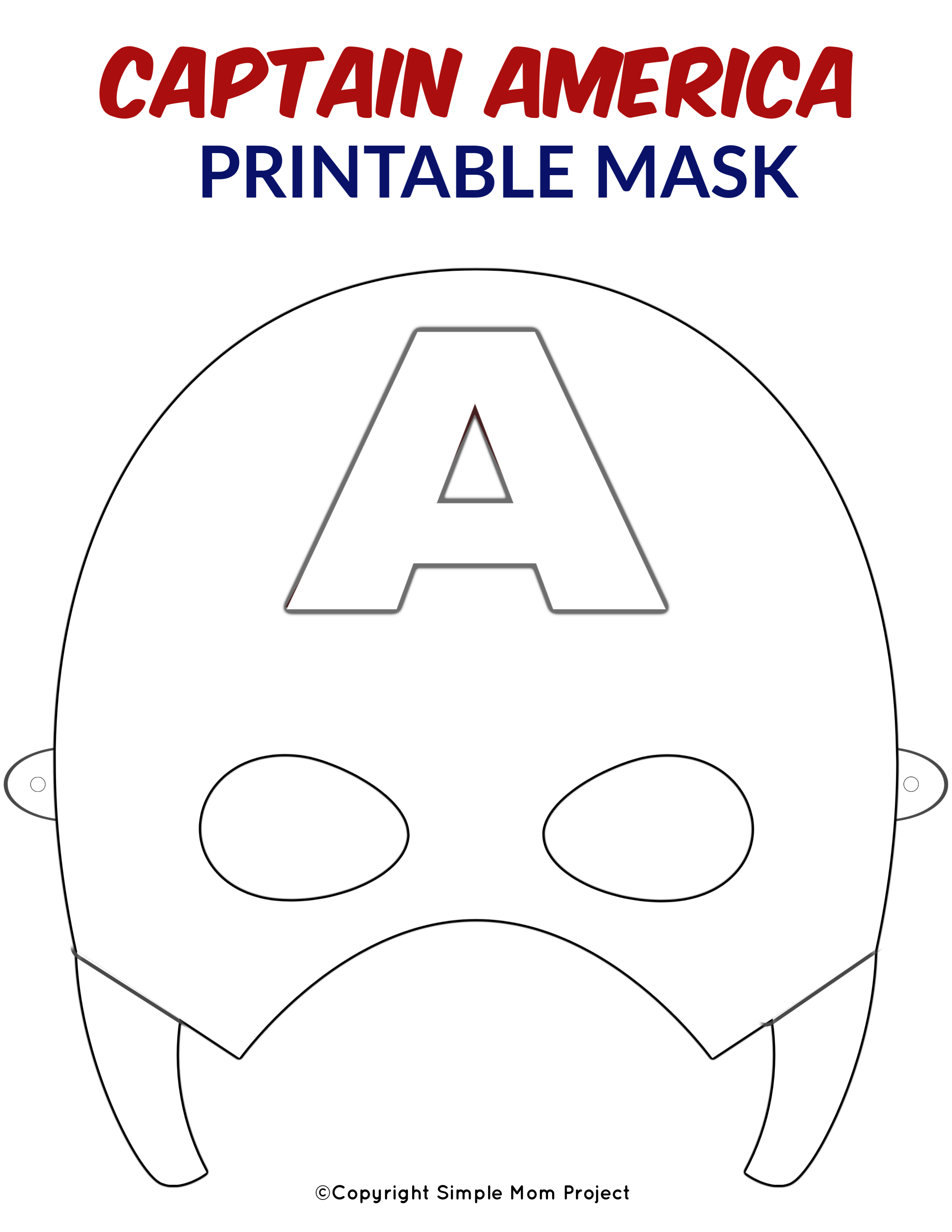 photograph about Super Hero Printable Masks known as Absolutely free Printable Superhero Confront Masks for Youngsters - Basic Mother