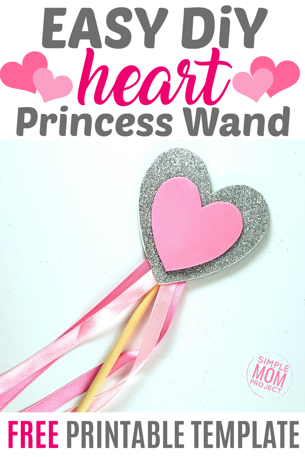 Easy DiY Princess Heart Wand Pin
