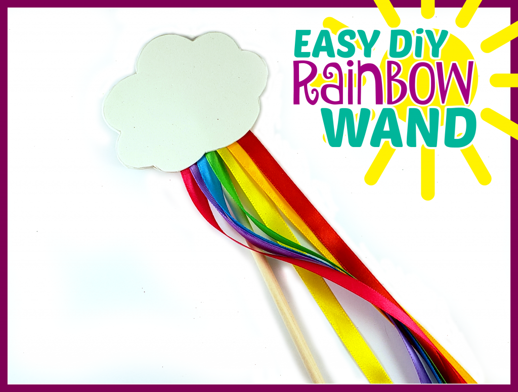 Click to get your FREE printable rainbow cloud template to make this easy and fun DiY rainbow wand craft for kids! Make them at home or for your classroom to tie into your weather unit. They also make really cute party favors for a rainbow or My Little Pony Birthday!