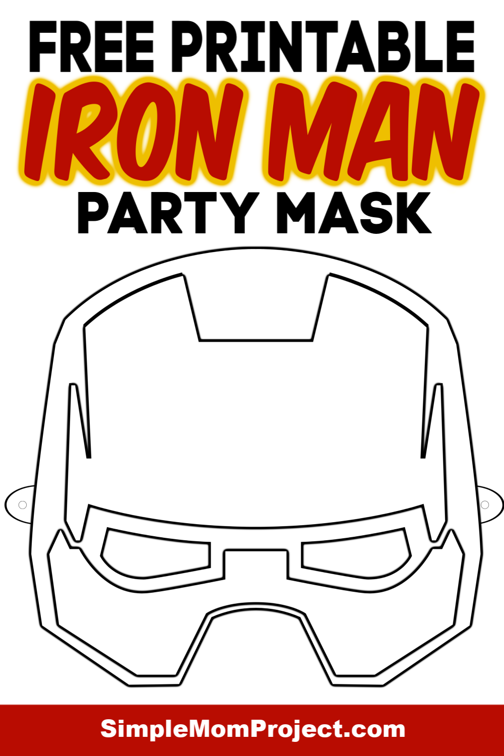 Free Printable Iron Man Mask Template Coloring Sheet