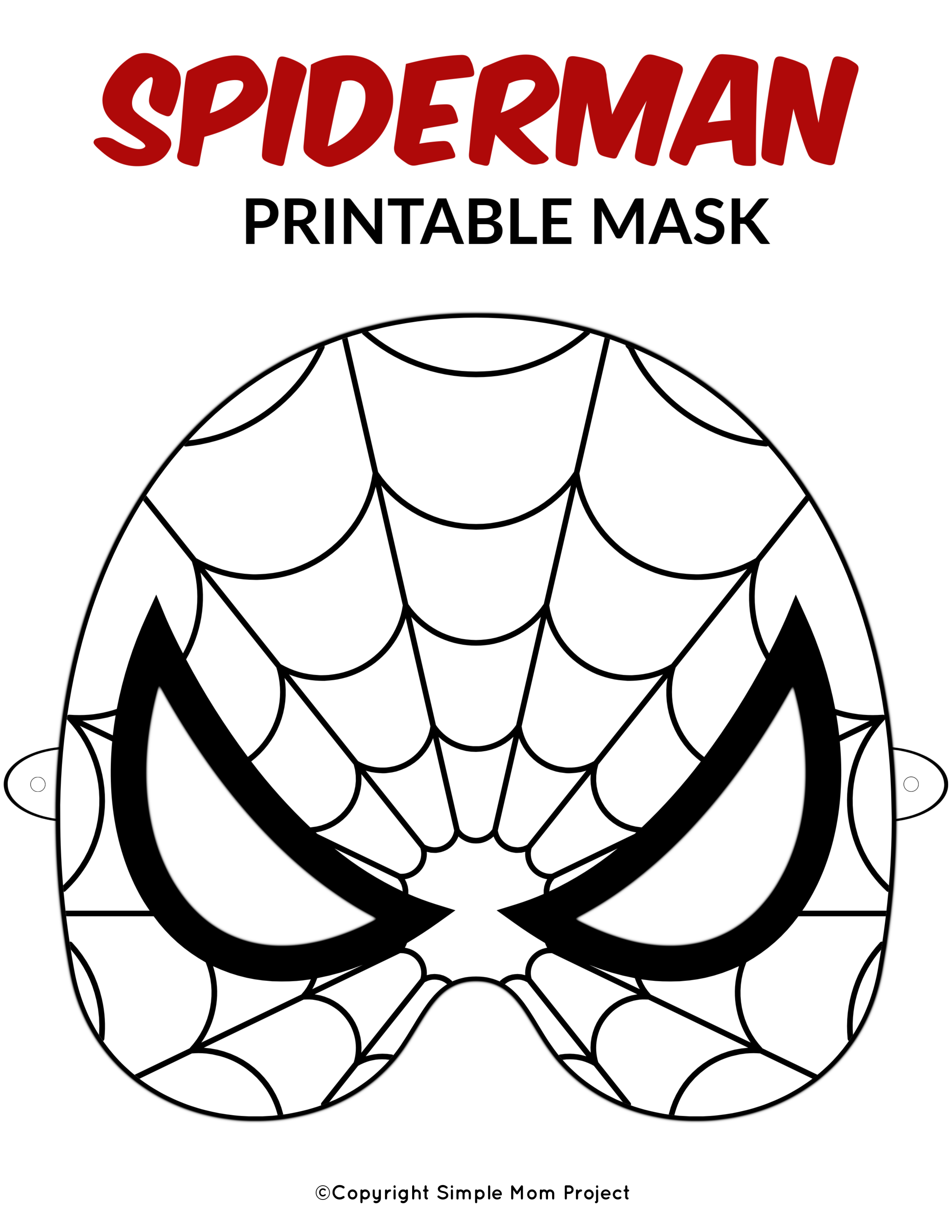 It's just a picture of Adaptable Spiderman Mask Printable