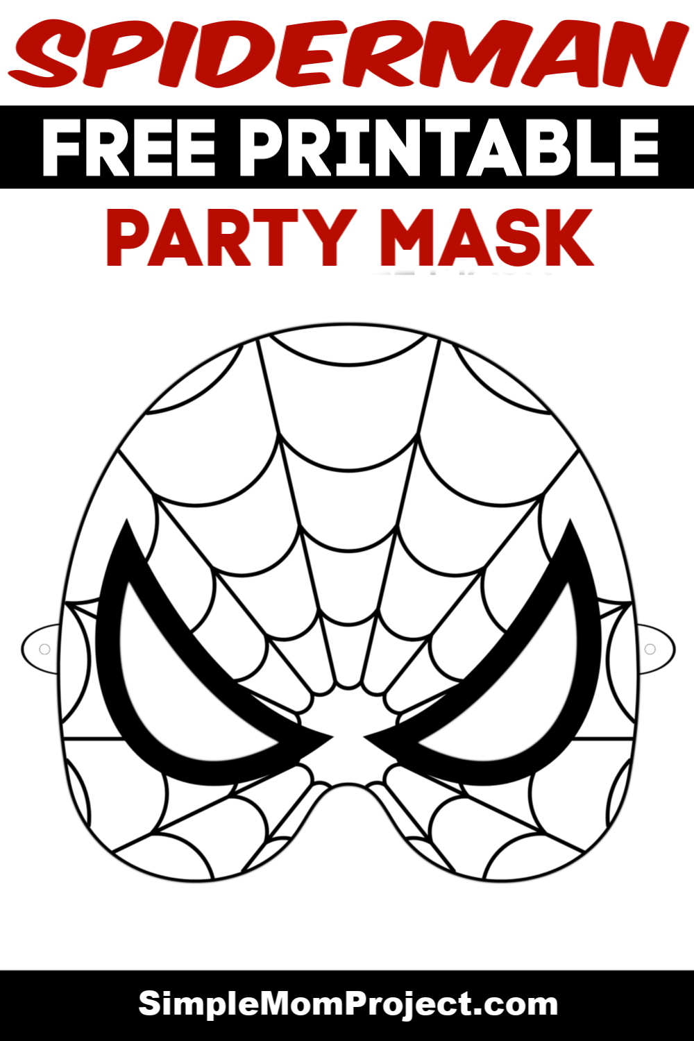 It's just a picture of Sweet Spiderman Mask Printable