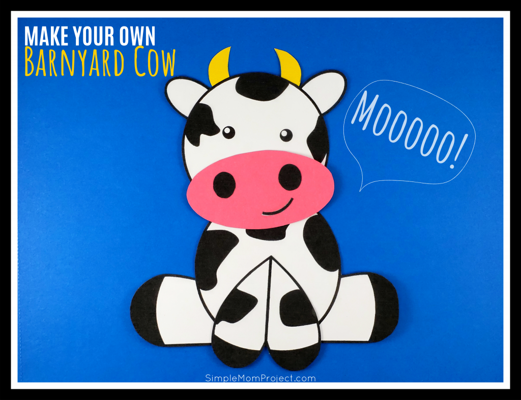 picture relating to Printable Cow Template named Lovable and Entertaining Farm Craft Cow Artwork Task - Uncomplicated Mother Job