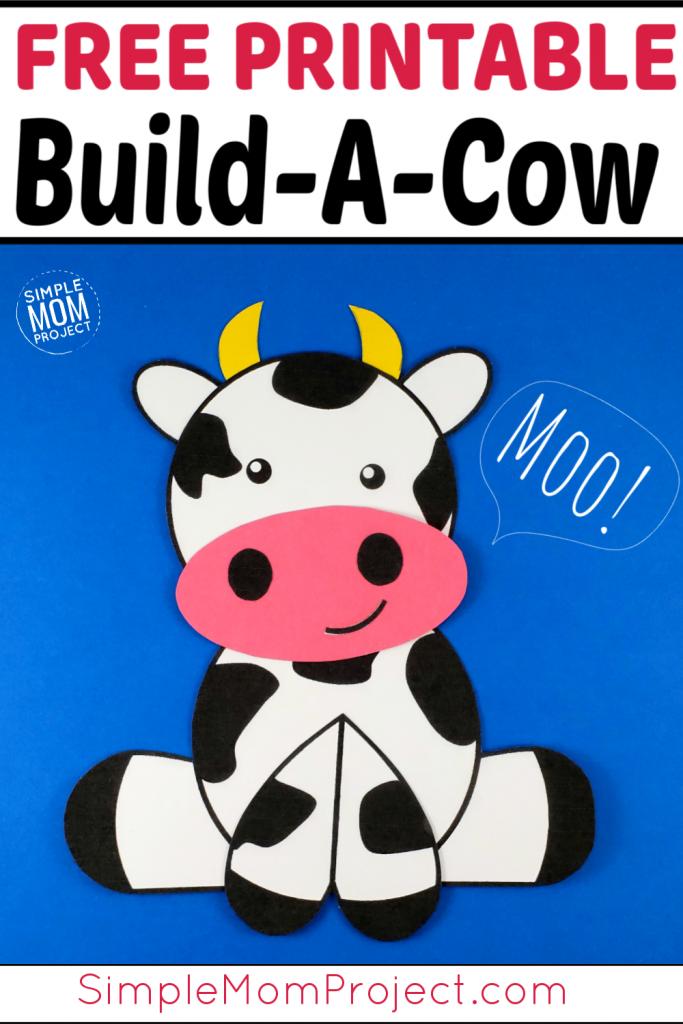 Farm Animal Crafts - Cow Pin