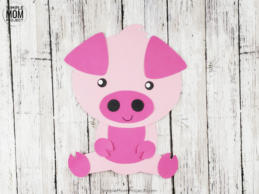 Fun Pig Farm Craft Activity for Toddlers, preschoolers and kindergartners