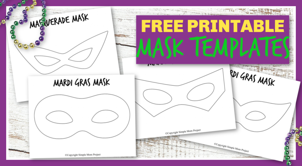 Whether your kids are masquerading around the house, playing superhero dress up or trying to spruce up their Halloween costume, these FREE DIY printable mask templates won't let you down! Click and print yours now!