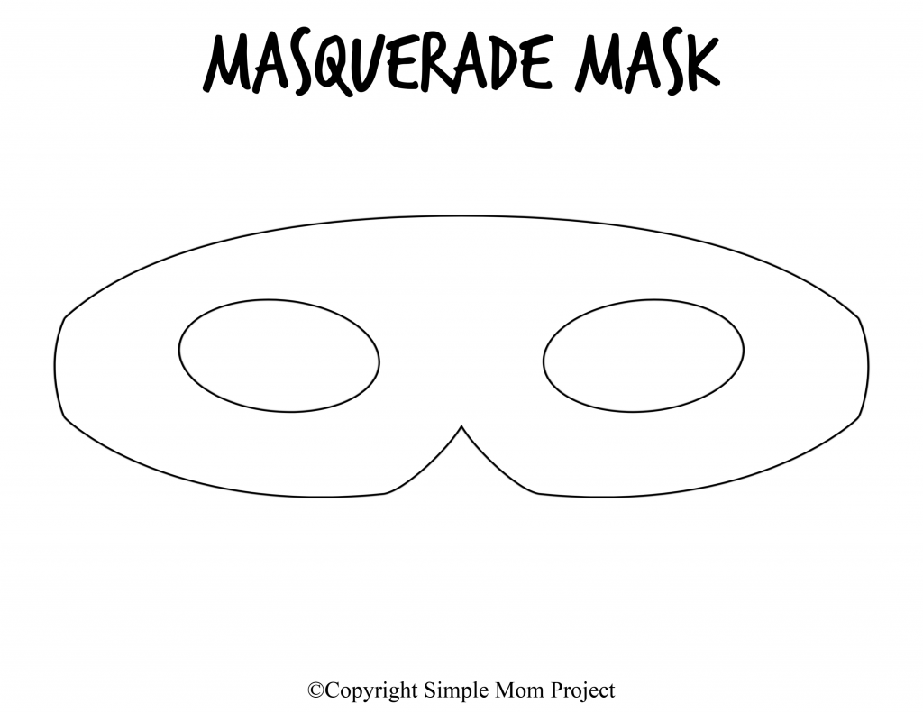 photograph about Free Printable Masks Templates named No cost Printable Do-it-yourself Mask Templates for Mardi Gras and
