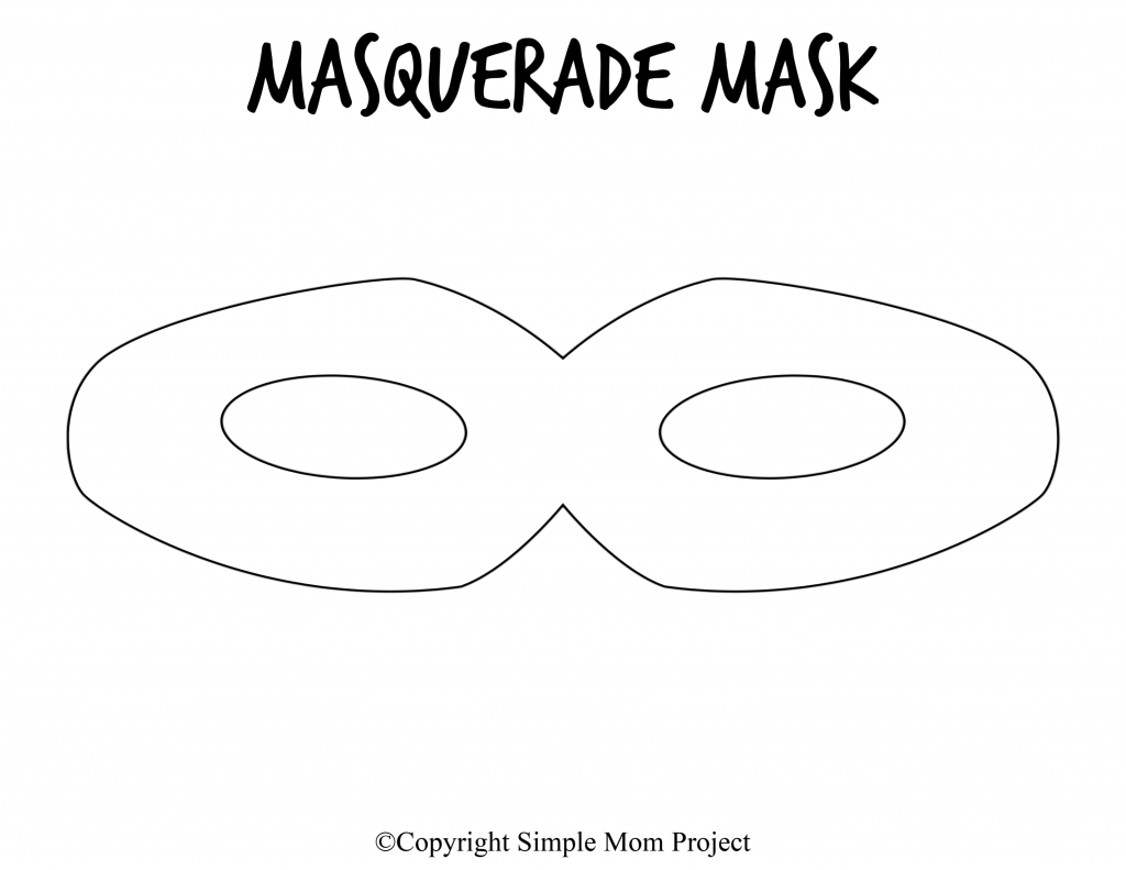 This is a graphic of Irresistible Printable Masquerade Masks Template