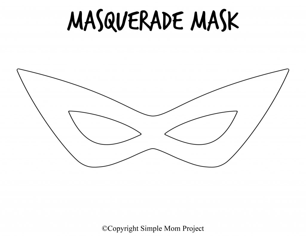Free Printable Masquerade Mask Template 3