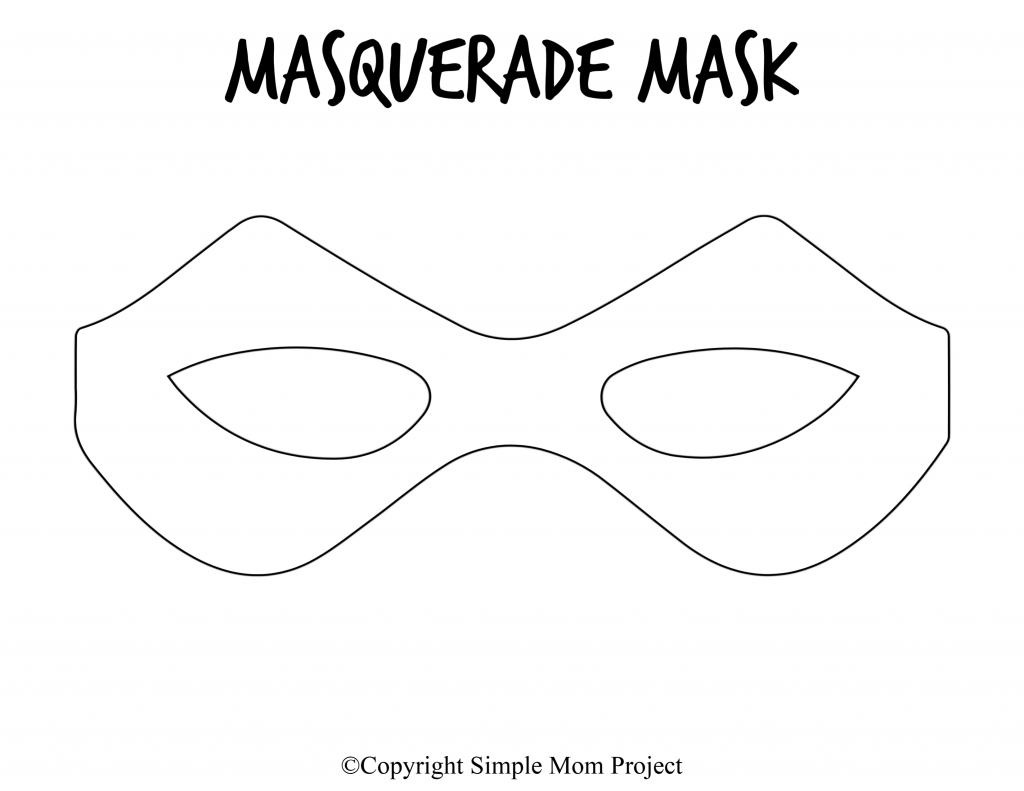 Free Printable Masquerade Mask Template 4