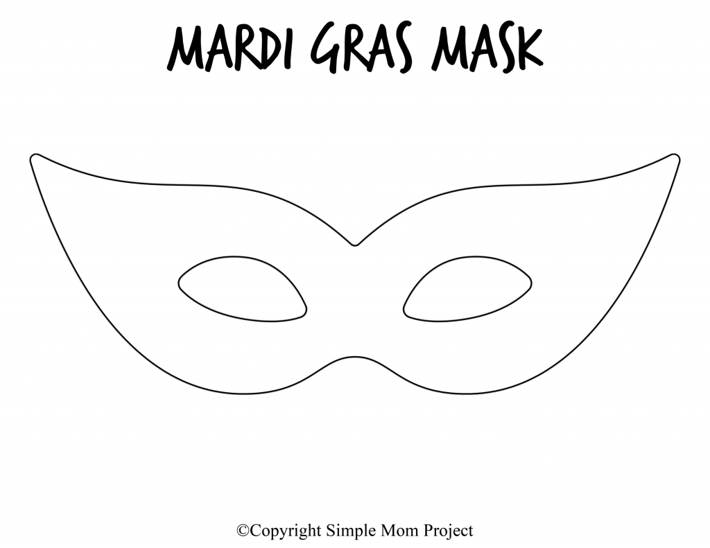 Free Printable Mardi Gras Mask Template 6
