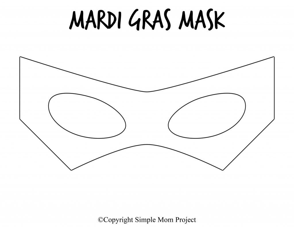 Free Printable Mardi Gras Mask Template 7