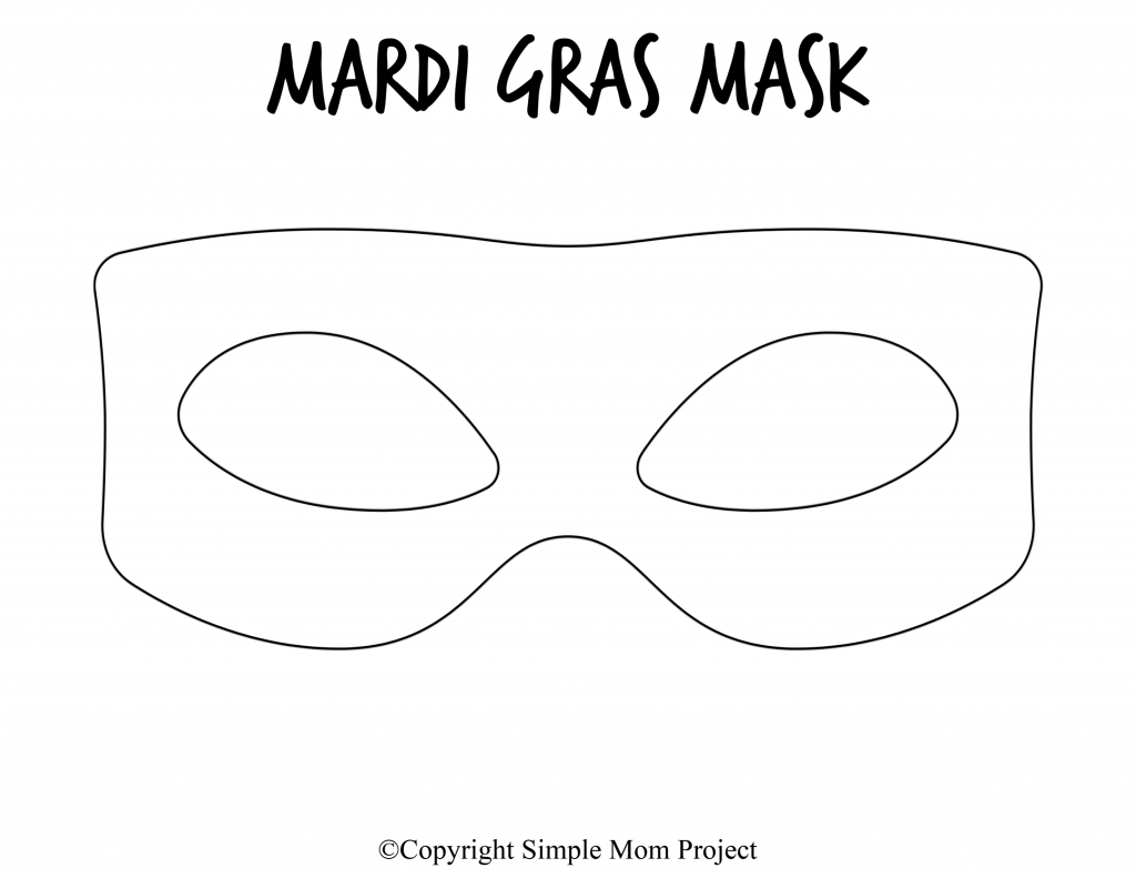Free Printable Mardi Gras Mask Template 8