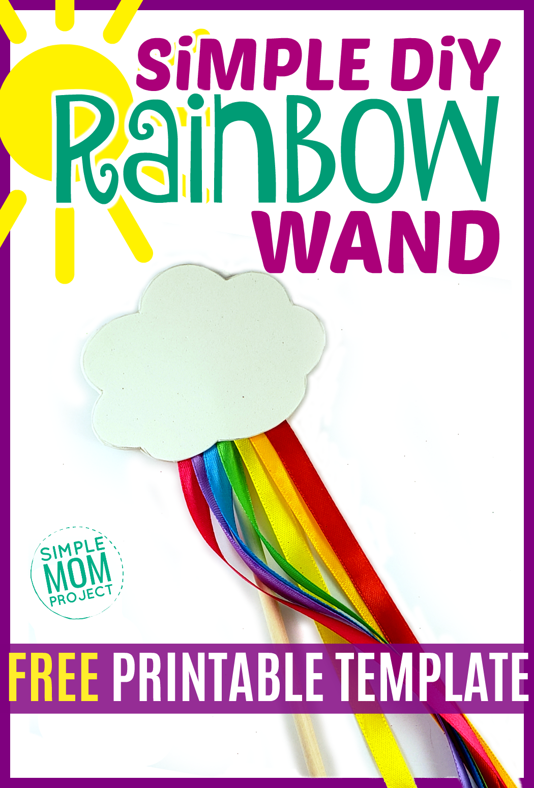 Simple DiY Rainbow Craft Wand Pin