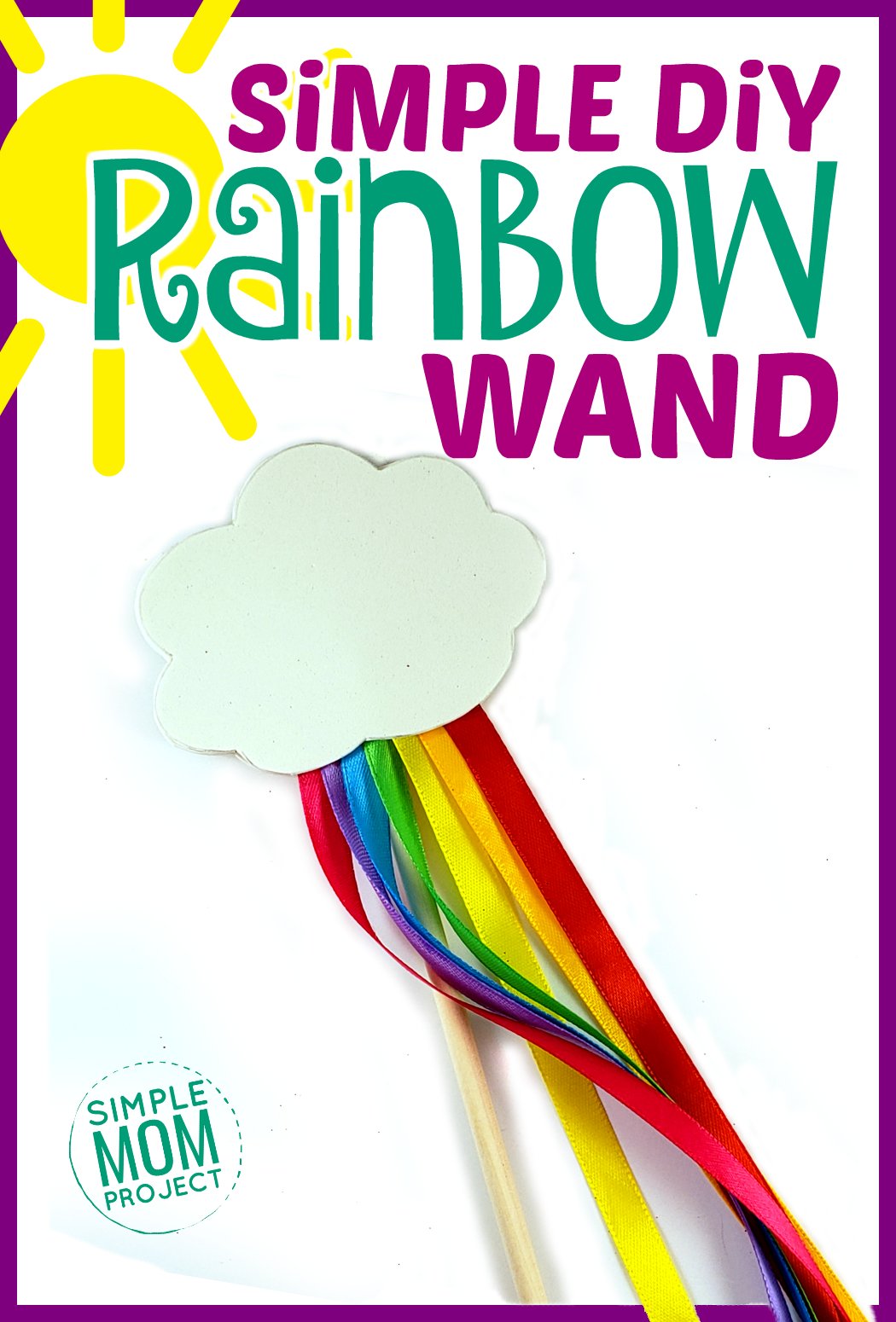 Simple DiY Rainbow Craft Wand