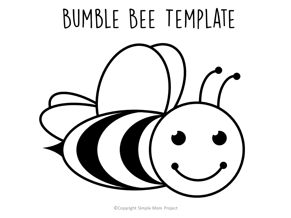 FREE printable bee templates coloring page