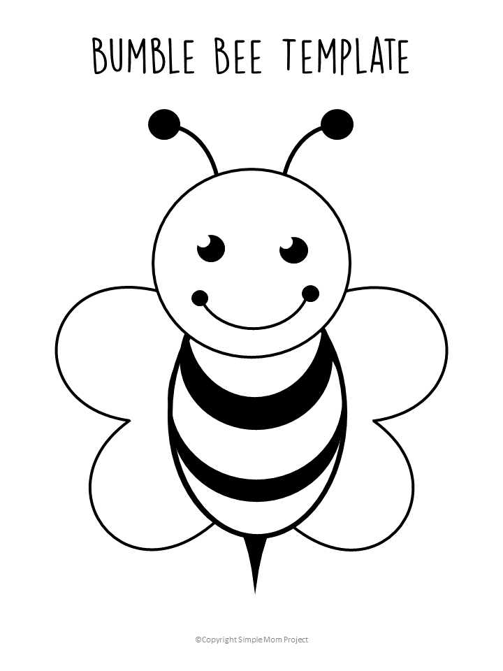 picture regarding Beehive Printable identified as Absolutely free Printable Bee Templates - Basic Mother Venture