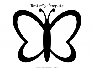 photo about Butterfly Stencils Printable known as Totally free Printable Butterfly Templates - Easy Mother Undertaking