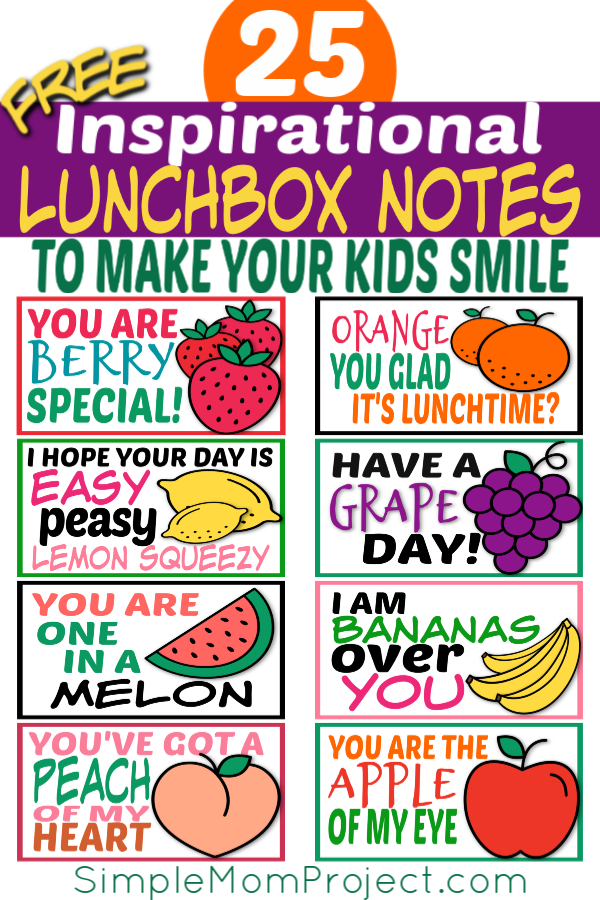 graphic about Printable Lunchbox Notes identify 25 Free of charge Printable Lunchbox Notes for Youngsters - Easy Mother Task