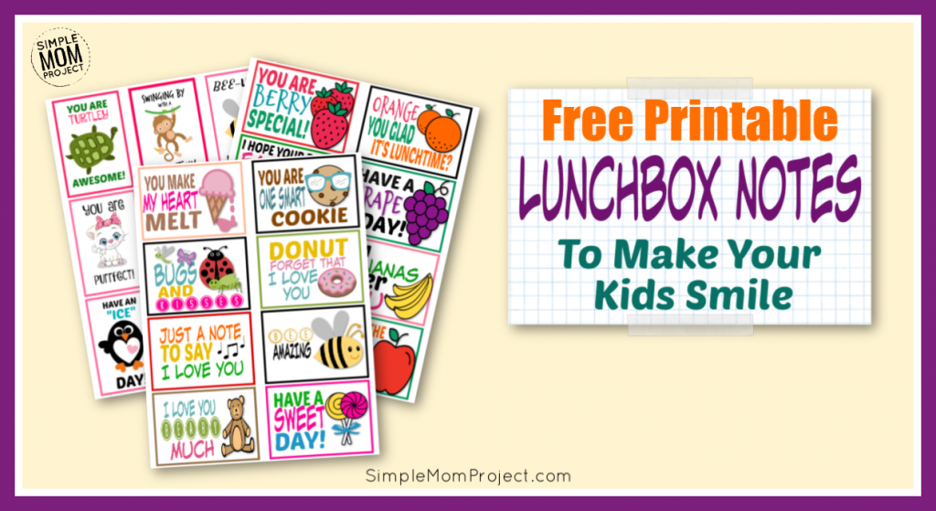 photograph about Printable Lunchbox Notes named 25 Totally free Printable Lunchbox Notes for Youngsters - Straightforward Mother Undertaking