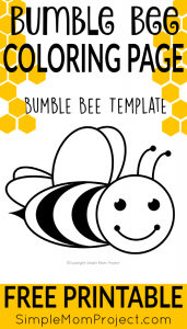 photograph regarding Free Printable Bee Template titled Absolutely free Printable Bee Templates - Very simple Mother Venture