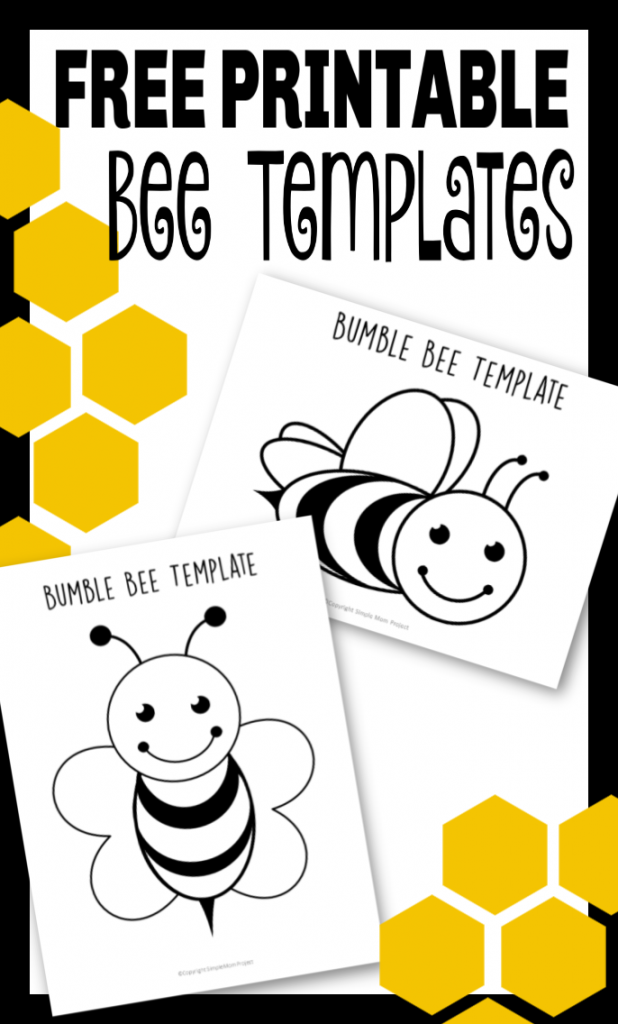 picture relating to Free Printable Bee Template called No cost Printable Bee Templates - Straightforward Mother Challenge
