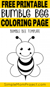 Free printable bee templates pin