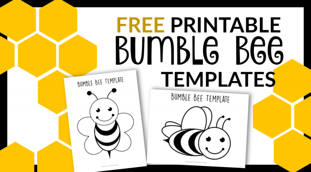 graphic relating to Bee Template Printable identified as Cost-free Printable Bee Templates - Uncomplicated Mother Challenge