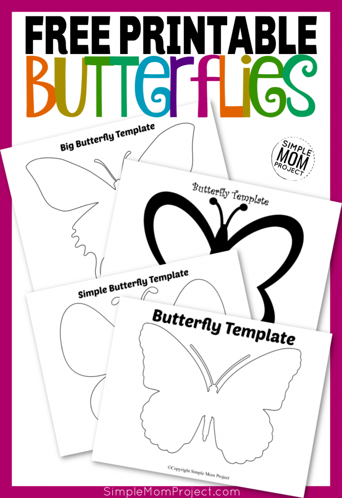 photo regarding Free Printable Butterfly Template identified as Totally free Printable Butterfly Templates - Very simple Mother Task