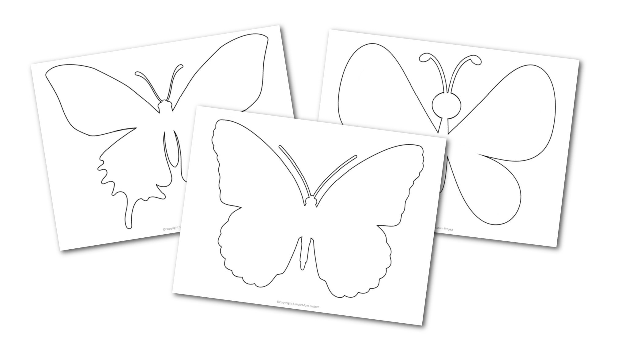 Free printable butterfly templates for preschoolers toddlers butterfly crafts