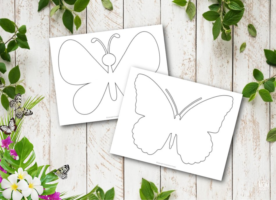 Free printable butterfly templates for preschoolers toddlers butterfly crafts 17