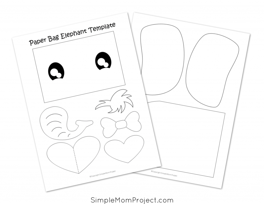 Free Printable Paper Bag Puppet for Kids, Toddlers and Preschoolers Template
