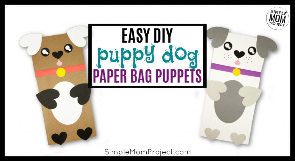 picture relating to Free Printable Paper Bag Puppet Templates identify Basic Do-it-yourself Paper Bag Pet dog Puppet Free of charge Template - Easy Mother