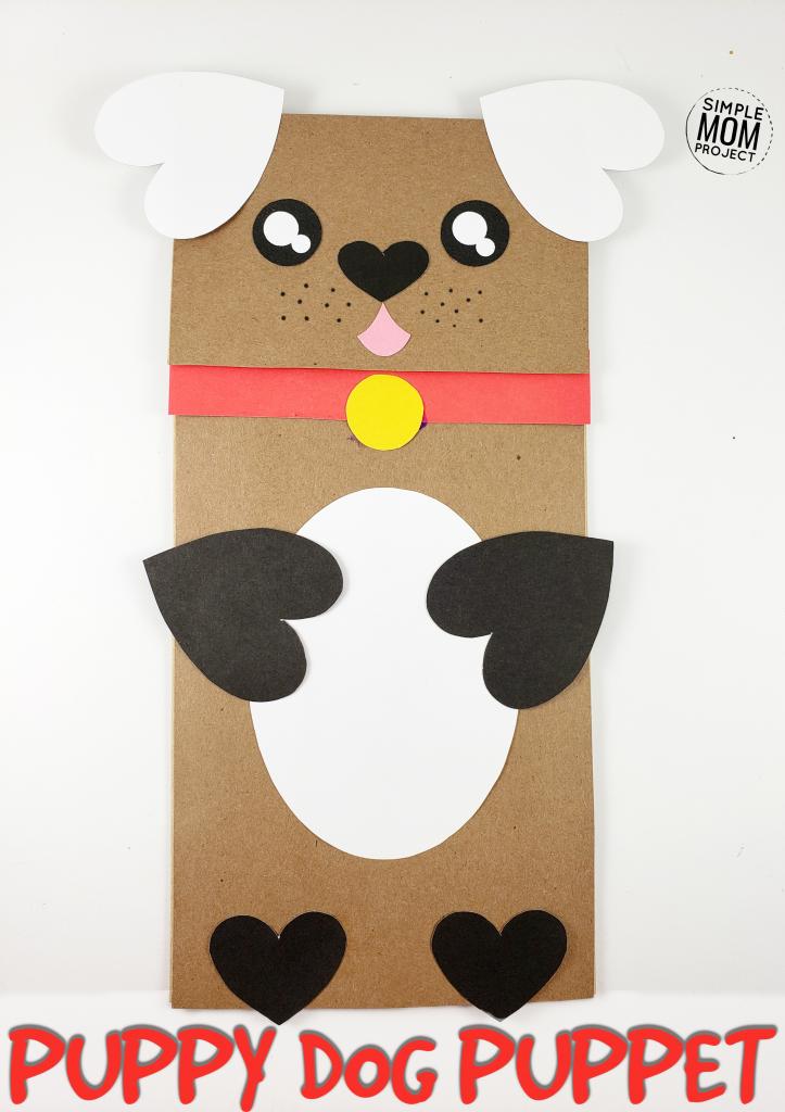 Puppy Dog Paper Bag Craft for Kids Finished