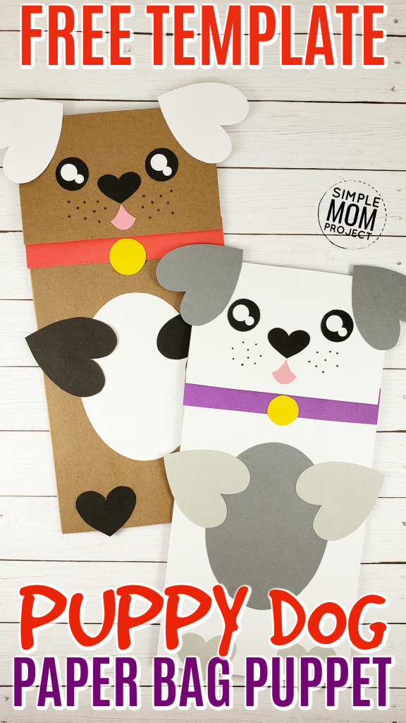 Puppy Dog Paper Bag Craft for Kids and Toddlers