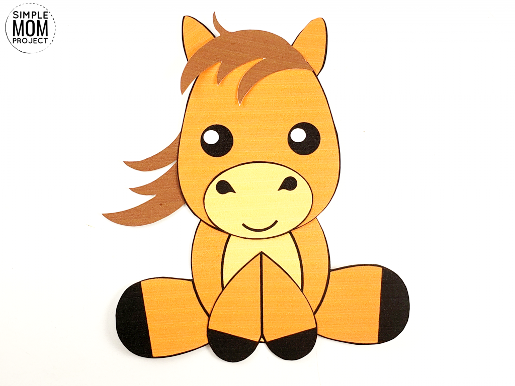 Horse Craft for Kids, preschoolers and toddlers Step 7