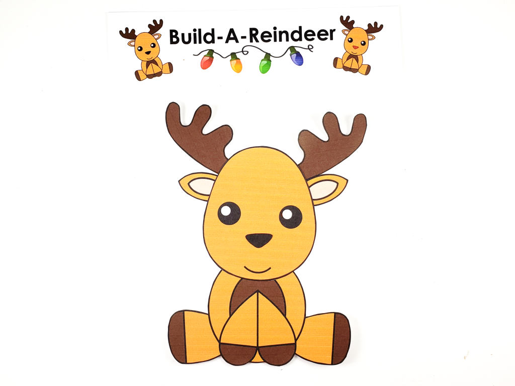 Click and print this easy to make reindeer template for kids of all ages, including preschoolers and toddlers. Give this reindeer as a fun Christmas card, gift him, make Christmas tags or use him as a diy Christmas ornament! #Christmas #ChristmasCrafts #Reindeer #ReindeerCrafts #RudolphOrnament #DiyChristmasOrnaments #SimpleMomProject